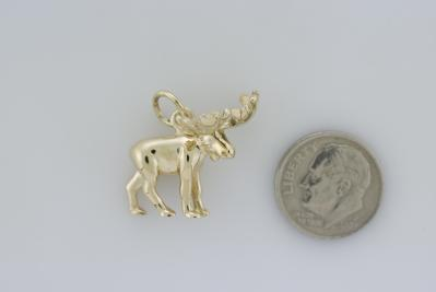 Moose 3D Small Pendant with Bail  MC1058CFY