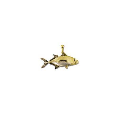 Tuna Bluefin Medium Pendant with Sapphire Eye, Rhodium Marking and Bail  MC1026.5YRHSAEB