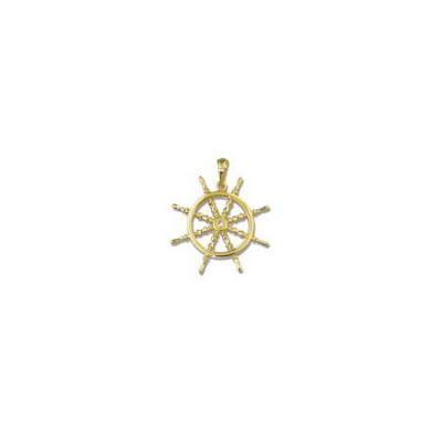 Ships Wheel Medium Pendant with Bail 110BFY
