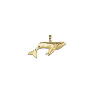 Whale Humpback Large Pendant with Bail  MC_279A.5YB