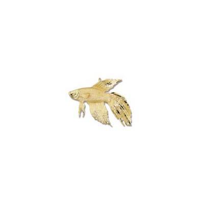 Siamese Fighting Fish Betta Large Pendant with Hidden Bail  MC_306.5YHB