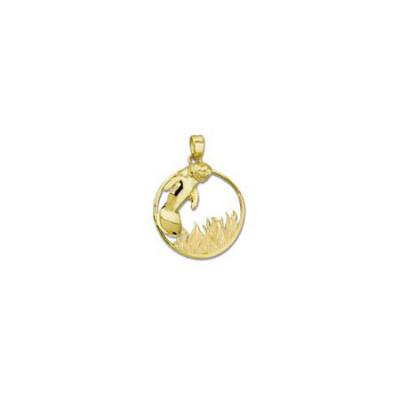 Manatee Large Pendant in Marsh Grass with Bail  MC_358A.5YB