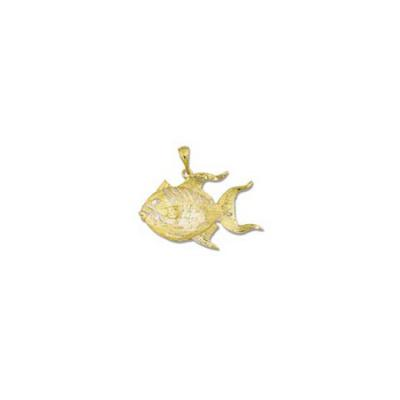 Triggerfish 3/D Large Pendant with Bail  MC_363FYB