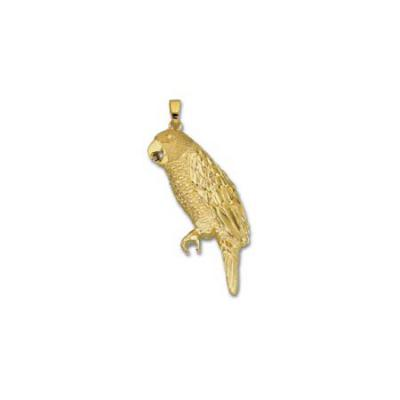 Amazon Parrot Large Pendant with Bail C435A.5YB