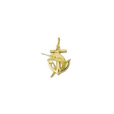 Marlin Blue on Anchor Large Pendant with Shackle Bail  24.5Y309.5YSB