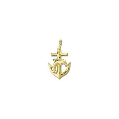 Anchor with Dolphin Large Pendant with Shackle Bail  MC__24.5Y/466B.5YSB