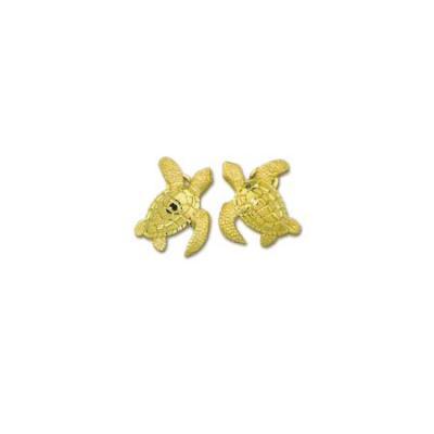 Turtles Green Sea Large Earrings with Omega Clip Backs  ME_766.5YOCB
