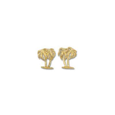 Palm Tree Double Medium Earring with Posts  ME_816.5YPT